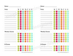 Printable Chore Chart 2
