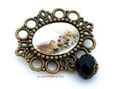Broche cuenta negra REF. 15 de La Tienda Vintage de Kima por DaWanda.com