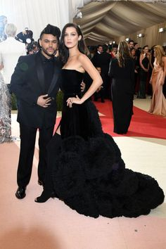 BELLA HADID AND THE WEEKND in Givenchy