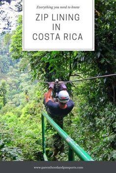 Costa Rica ziplining tour. What to wear and what to expect when you go ziplining near Costa Rica's Arenal Volcano.  #costarica #ziplining