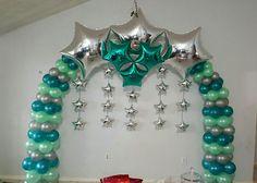 Image result for arco con globos y estrellas