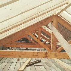 This week the traditional truss roof has been crafted and installed ready for the slate roofing to be fitted next week. Lets hope the lovely weather holds up! The Slate, Slate Roof, Barn, Construction, Weather, Homes, Traditional, Wood, Crafts