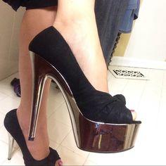 "Steve madden stilettos 6"" heel ""mirror"" platform peep toe- worn once- additional pics in separate listing. Discount on bundles! Steve Madden Shoes Heels"
