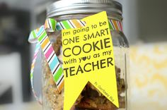 Teacher Gift Tag, One Smart Cookie