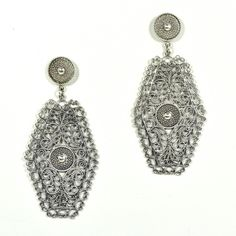 JJ Caprices - .925 Sterling Silver Filigree Earrings by ILARIA