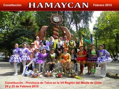 La Agrupacion Folklorica Hamaycan presente en el Festival Internacional De Constitución - ciudad de la Provincia de Talca en la VII Región del Maule de Chile