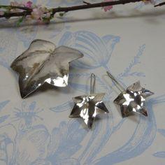 Vintage Sterling Silver Handmade Ivy Brooch/ by SLCDesignsUK, £45.00