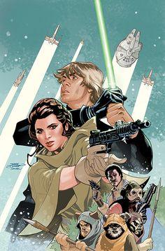 Star Wars: Shattered Empire 1 Variant Cover by TerryDodson.deviantart.com on @DeviantArt