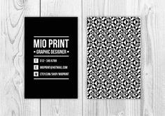 Unique Business Card Design door Mio Print https://www.etsy.com/nl/listing/196922761/uniek-visitekaart-ontwerp-will-be-resold?langid_override=0