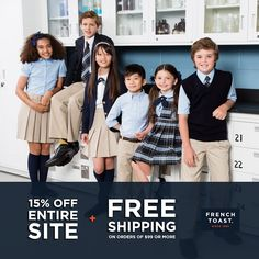 Are you ready for September? Get your kids' back-to-school styles now - save 15% sitewide and free shipping on orders of $99 or more. Code: QWSALE15. Visit www.frenchtoast.com for quality schoolwear for the season. #backtoschool