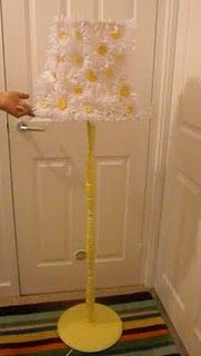 This would be so cute for a little girls room.  Upcycled Lamp and shade!