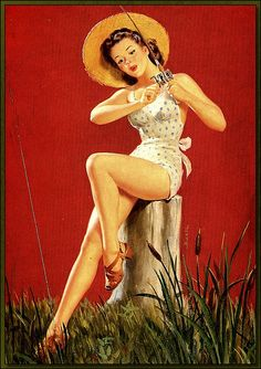 Who says girls can't fish and look good doing it? Pin ups on Pinterest.