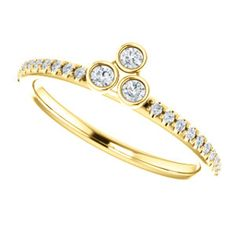 Diamond Three-Stone Stackable Ring Item #: 123298