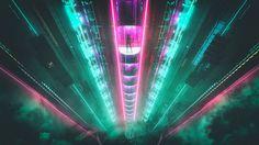 Cyberpunk Elevation by David Legnon [1920x1080]