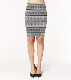 Upgrade your silhouette with this ethnic print pencil skirt!
