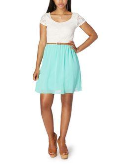 fad855c71f2 Cap Sleeve Blocked Lace Dress