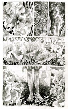 Drawing Comics Rhubarb and Raspberries on Behance - Comic Book Layout, Graphic Novel Art, Drawn Art, Bd Comics, Illustrations And Posters, Art Inspo, Art Reference, Comic Art, Book Art