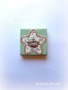 """Mini toile décorative série """" Printemps anglais """" n°13 : Accessoires de maison par jademiel-etincelles"""