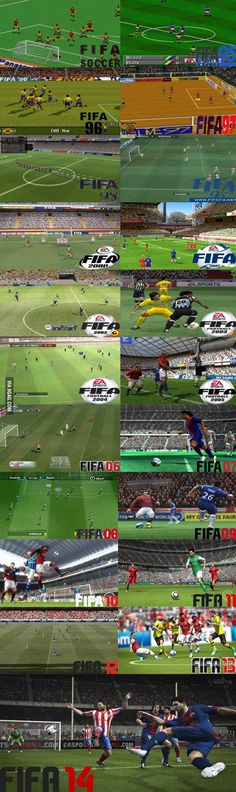 The evolution of Fifa (Soccer) Graphics!