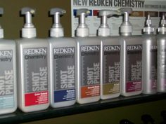 Redken Chemistry System. This should be on your service list every time you enter the salon. This system is designed to do everything from lock in color, add strength, de-frizz to adding moisture. It's an answer to your hair needs. Ask your stylist about it and get it. IT'S WORTH IT!!