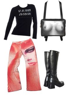 Edgy Outfits, Mode Outfits, Fashion Outfits, Outfit Combinations, Polyvore Outfits, Alternative Fashion, Types Of Fashion Styles, My Style, Clothing
