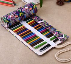 Portable Pencil Case 36/48/72 Roll up Bag
