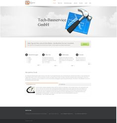 The homepage from Tech Bauservice