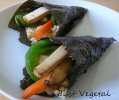Just Vegetal – Sushi: Temaki Vegano con Arroz Integral