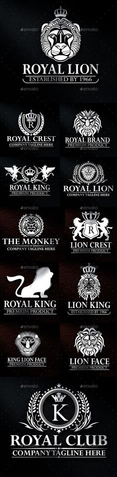 Heraldic Lion Crest Logos Vol 16 — Vector EPS #real estate #royal • Available here → https://graphicriver.net/item/heraldic-lion-crest-logos-vol-16/12692884?ref=pxcr