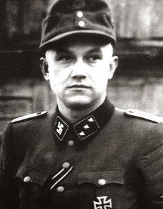 "Portrait du ""SS-Obersturmführer"" Teodors Kalnājs"