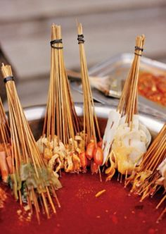 A hot-pot stand selling the classic street food of Sichuan Province