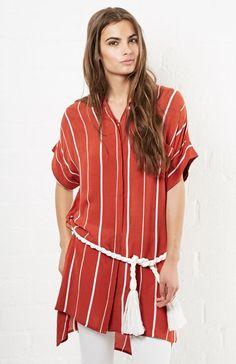 Faithfull The Brand Castaway Dress in Terracotta XS - M | DAILYLOOK