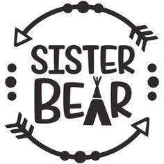 Silhouette Design Store: sister bear logo