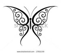 Abstract Fantasy Butterfly Tattoo Vector  27931339 Shutterstock
