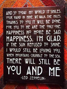 Led Zeppelin 'Thank You' lyrics Led Zeppelin Thank You, Led Zeppelin Lyrics, Led Zeppelin Tattoo, Led Zeppelin Quotes, Song Lyric Quotes, Music Lyrics, Music Quotes, Lyric Art, Citations Rock