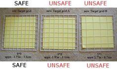 Comparison of three grid sizes.