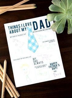 All About Dad – Father's Day Printable