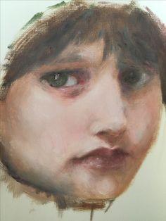 Bouguereau study. Oil painting.