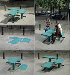 Street Furniture Pops Up When Needed : TreeHugger