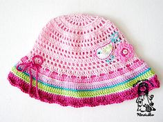 It is our most favourite summer hat:-) This is a written-pattern for hat. This pattern includes diagrams of crochet applications and the table for different sizes.