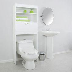 Si tu baño es pequeño, aprovecha los espacios con un mueble sobre el inhodoro. #SodimacHomecenter #Sodimac #Homecenter