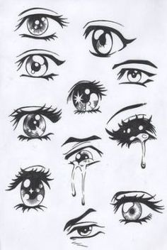 Easy Anime Drawing Eyes - Easy Anime Eyes To Draw Girl Anime Hair Sketches Drawings Easy Drawing Manga Eyes Part Ii Risovat Glaza Risovanie Glaza How To Draw Anime Eyes Step By. Drawing Eyes, Drawing Sketches, Painting & Drawing, Drawings Of Eyes, Pencil Drawings, Cartoon Drawings, Female Drawing, Mouth Drawing Easy, Sketches Of Eyes