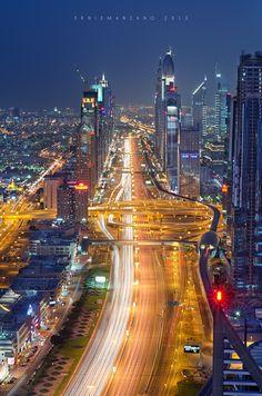 Rush hour at Sheikh Zayed Road