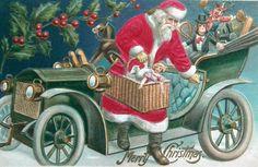 Transportation Santa
