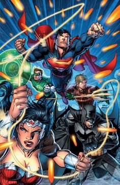 """league-of-extraordinarycomics: """"Justice League by Andy Kubert """""""