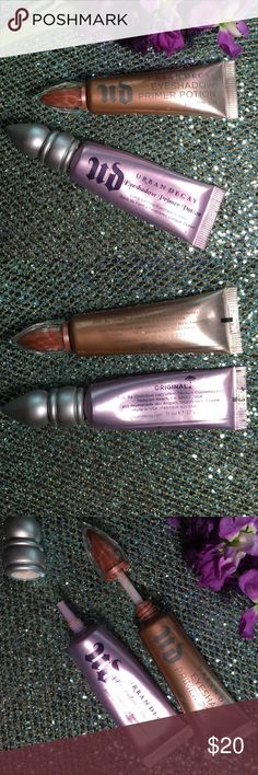 URBAN DECAY EYESHADOW PRIMER DUO Used and sold AS IS. Urban Decay Makeup Eye Primer