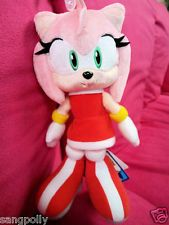 22 cm New Sonic The Hedgehog Amy Rose Plush Doll 2012'
