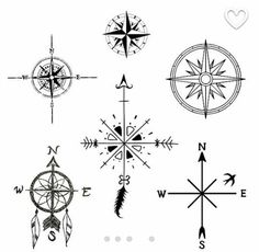 compass rose pack cuttable design cut file vector clipart digital scrapbooking download. Black Bedroom Furniture Sets. Home Design Ideas