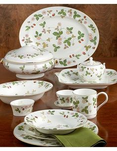 Wedgewood Wild Strawberries China. I have the complete set. Would love to design kitchen remodel around it.