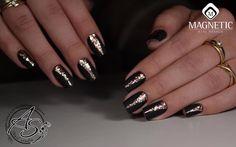 Black & Gold! Nails by Alexandra Sumina Glitter Sand (118053)